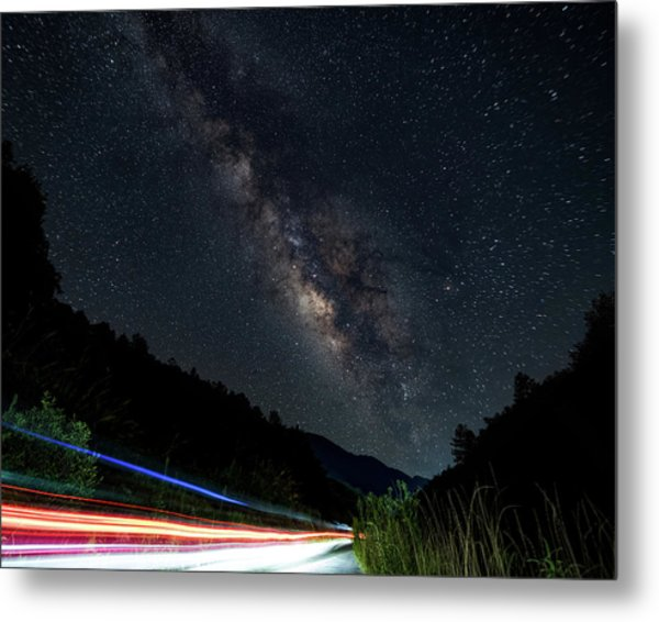 Metal Print featuring the photograph Milky Way Over The South Road by William Dickman