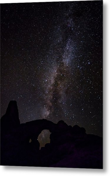 Metal Print featuring the photograph Milky Way Over The Windows by David Morefield