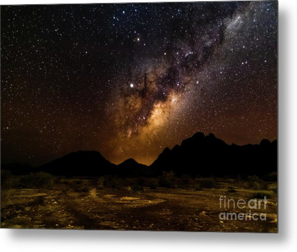 Milkyway Over Spitzkoppe 2, Namibia Metal Print