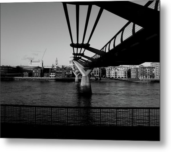 Metal Print featuring the photograph Millennium Bridge  by Edward Lee