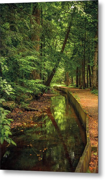 Millrace By John Cable Metal Print