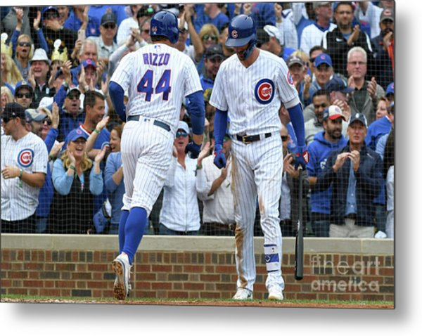 Milwaukee Brewers V. Chicago Cubs Metal Print