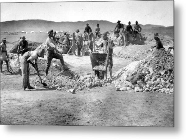 Mine Workers Metal Print by Robert Harris