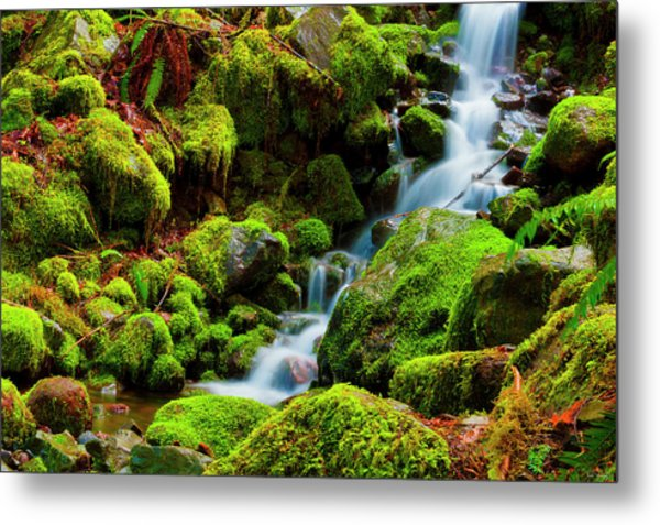 Mini Cascading Waters Metal Print