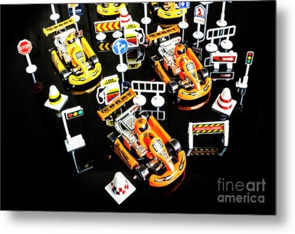 Miniature Motorsports Metal Print