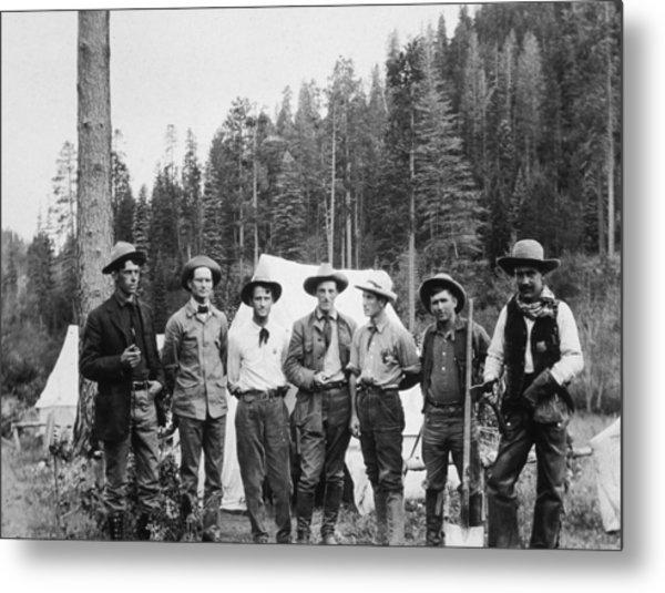 Mining Prospectors Metal Print by Hulton Archive