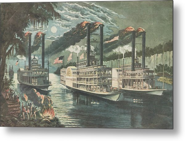 Mississippi Rivals Metal Print by Hulton Archive