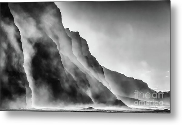 Mist On The Rocks Metal Print