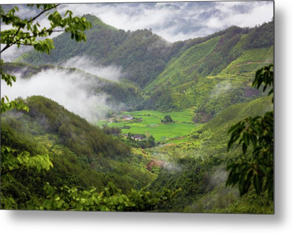 Metal Print featuring the photograph Misty Farm I by William Dickman