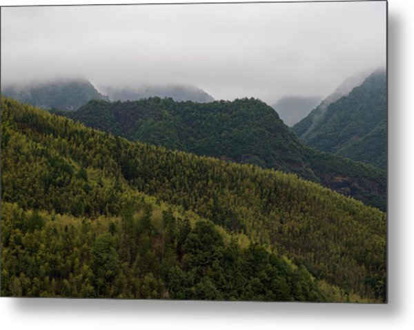 Metal Print featuring the photograph Misty Mountains I by William Dickman