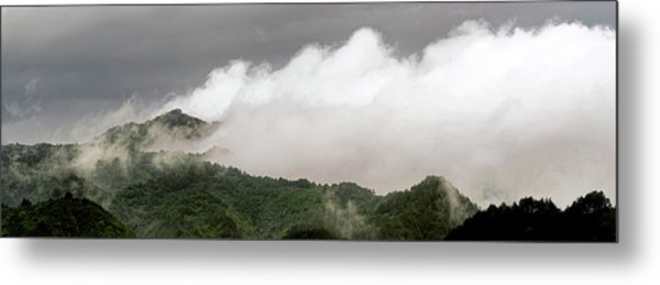 Metal Print featuring the photograph Misty Mountains II 3x1 by William Dickman