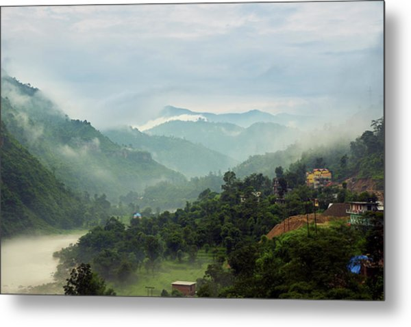 Metal Print featuring the photograph Misty Mountains by Whitney Goodey