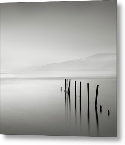 Misty Posts Metal Print