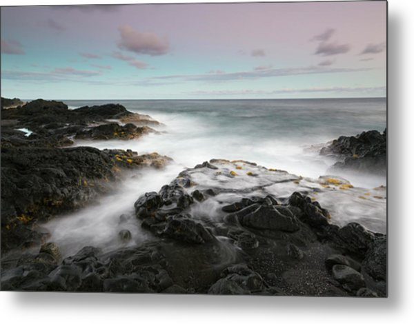 Misty Surf, Puna Coast Metal Print by Don Smith