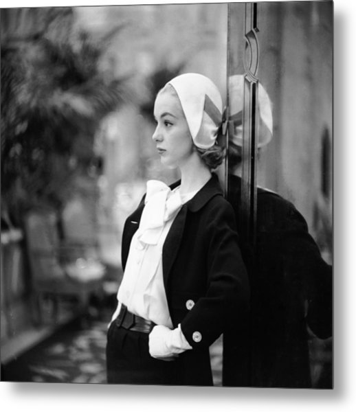 Model In Suit Metal Print by Gordon Parks