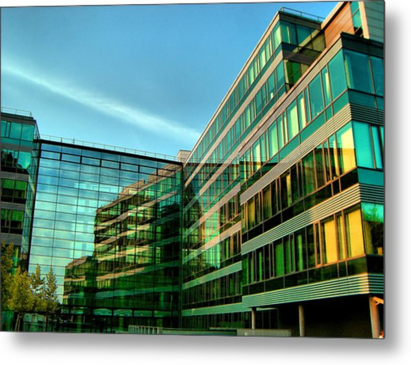 Modern Architecture In Vienna Metal Print