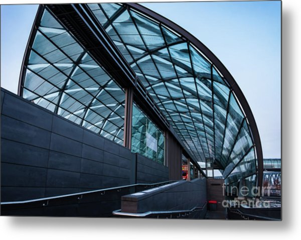 Modern Architecture Shell Metal Print