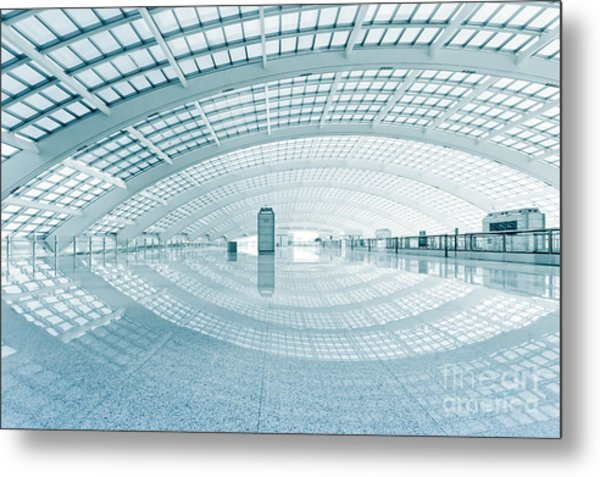Modern Hall Of Subway Station  At T3 Metal Print by Ssguy