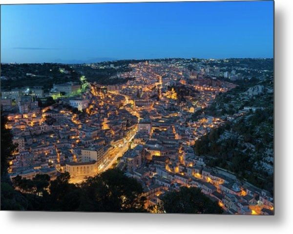 Metal Print featuring the photograph Modica, Sicily by Mirko Chessari