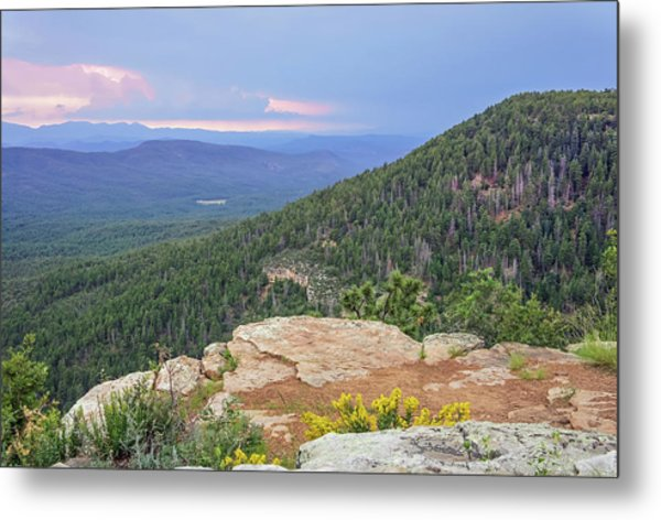Metal Print featuring the photograph Mogollon Rim Sunset by Dawn Richards