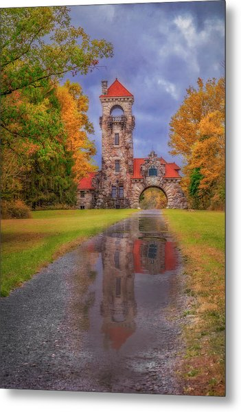 Metal Print featuring the photograph Mohonk Preserve Gatehouse  Ny Fall  by Susan Candelario