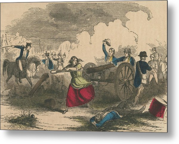 Molly Pitcher Metal Print by Hulton Archive