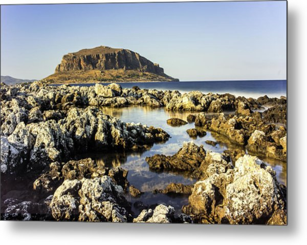 Monemvasia Rock Metal Print