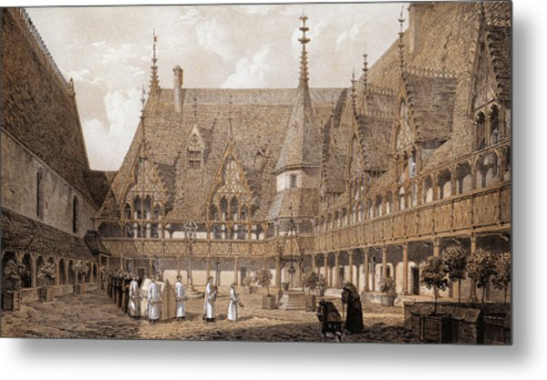 Monks At The Hotel Dieu Metal Print by Hulton Archive