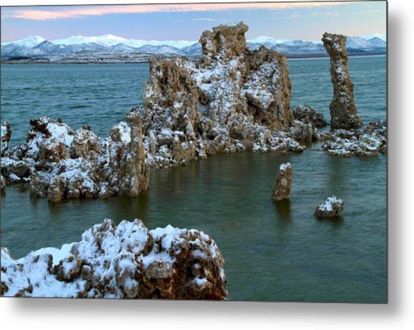 Mono Lake Tufa Towers Sunrise Metal Print