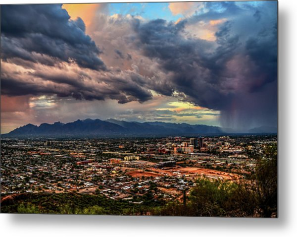 Metal Print featuring the photograph Monsoon Hits Tucson by Chance Kafka