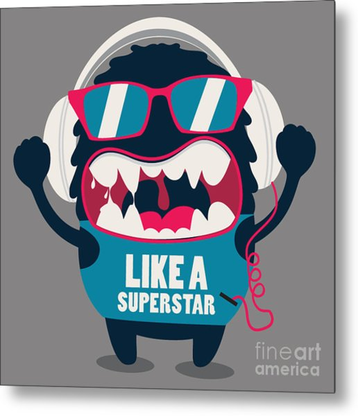 Monster Graphic Metal Print by Braingraph