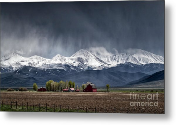 Montana Homestead Metal Print