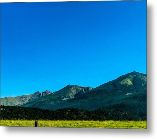 Metal Print featuring the photograph Montana Peaks And Plains by Pacific Northwest Imagery