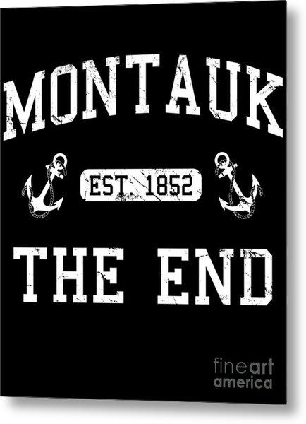 Metal Print featuring the digital art Montauk Established 1852 by Flippin Sweet Gear