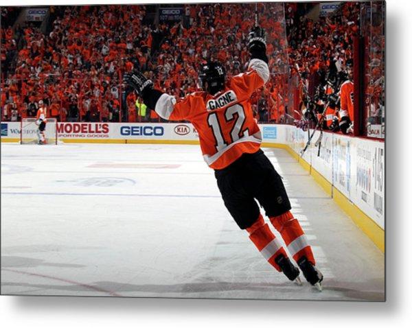 Montreal Canadiens V Philadelphia Metal Print by Bruce Bennett