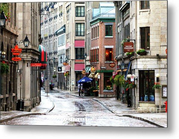 Montreal Street Scene 2010 Metal Print