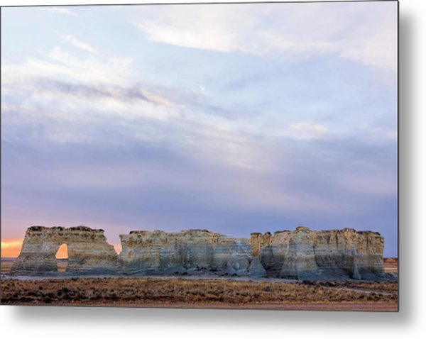 Monument Rocks Metal Print