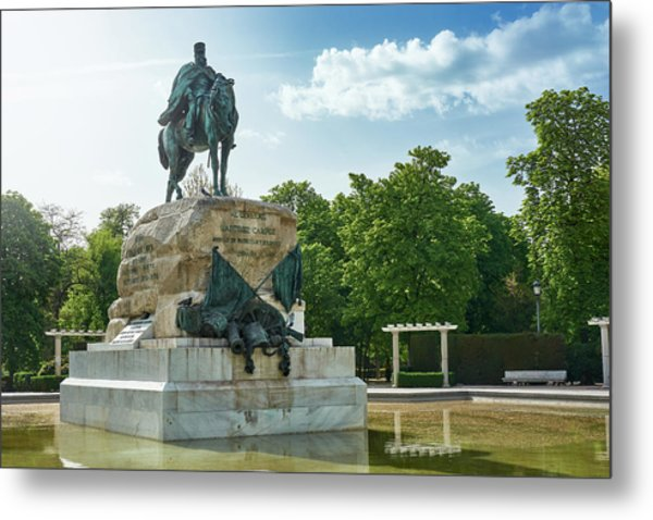 Monument To General Arsenio Martinez Campos In Madrid, Spain Metal Print