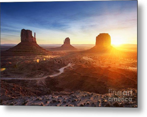 Monument Valley At Sunrise Metal Print