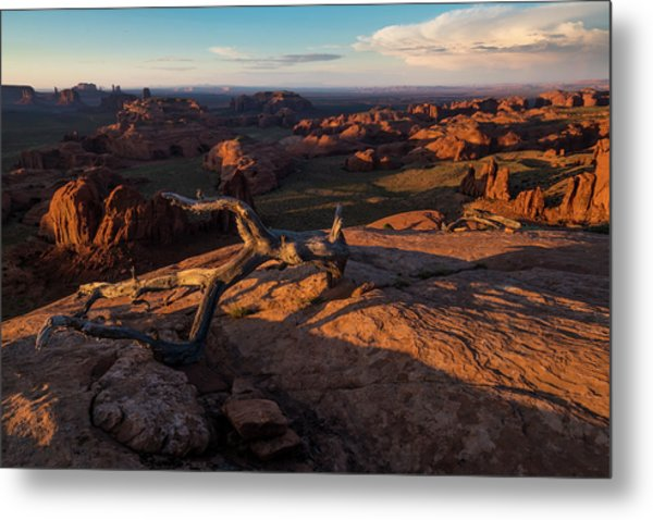 Monument Valley From Hunts Mesa Metal Print