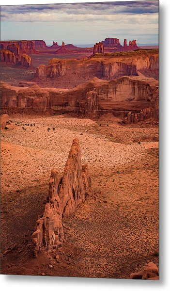 Monument Valley From Hunt's Mesa Metal Print