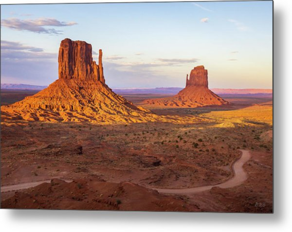 Metal Print featuring the photograph Monument Valley Xx Color by David Gordon