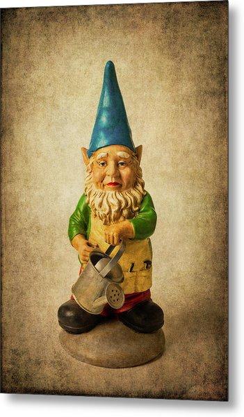 Moody Garden Gnome Metal Print