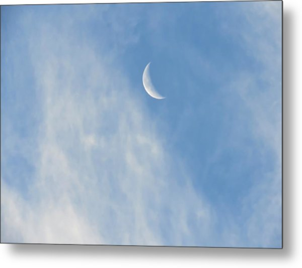Moon In Libra - Crescent Farewell Metal Print