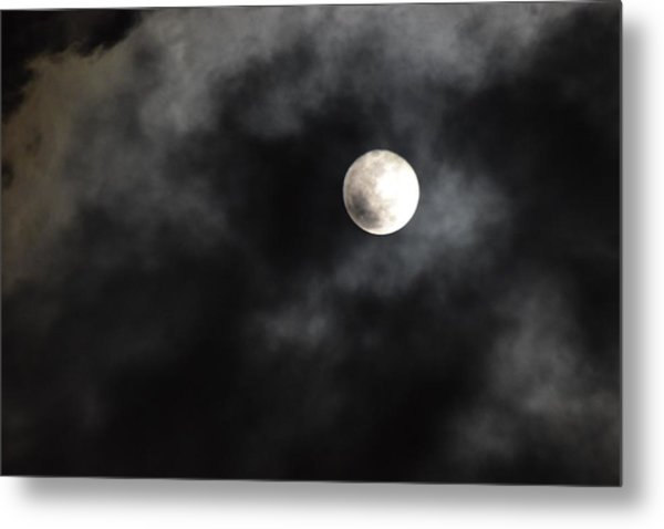 Moon In The Still Of The Night Metal Print