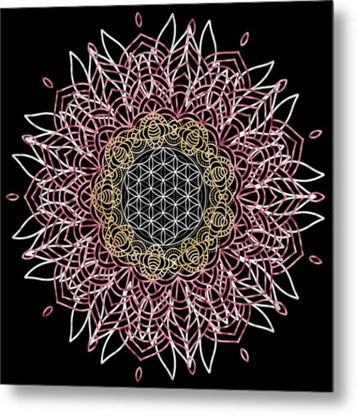Metal Print featuring the digital art Moon Mandala by Bee-Bee Deigner
