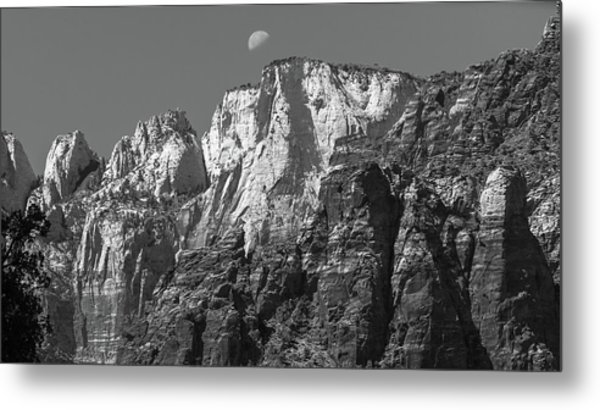 Moon Over Zion Metal Print by Joseph Smith