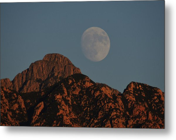 Metal Print featuring the photograph Moon Rise Over Mount Wrightson  by Chance Kafka