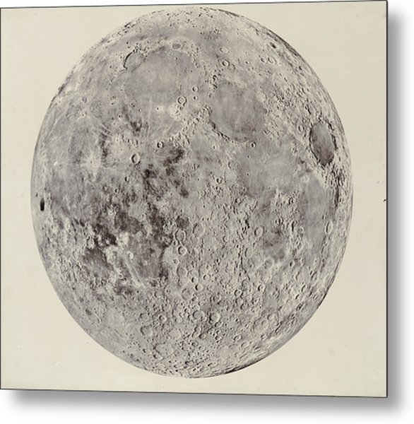 Moon With Craters Metal Print