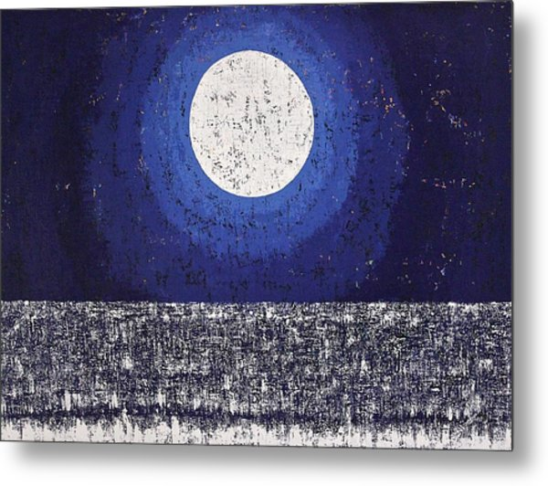 Moonbathing Original Painting Metal Print
